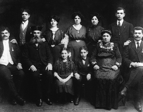 Historic black and white photo of the Bernstein Family