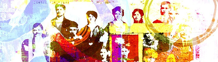 Abstract image of a group of Jewish immigrants