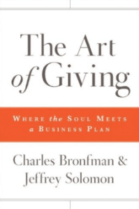 Book Cover - The Art of Giving by Charles Bronfman and Jeffrey Solomon