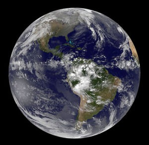 Satellite view of earth on November 11, 2011