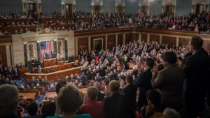 Photo of President Trump's address to the joint session of Congress